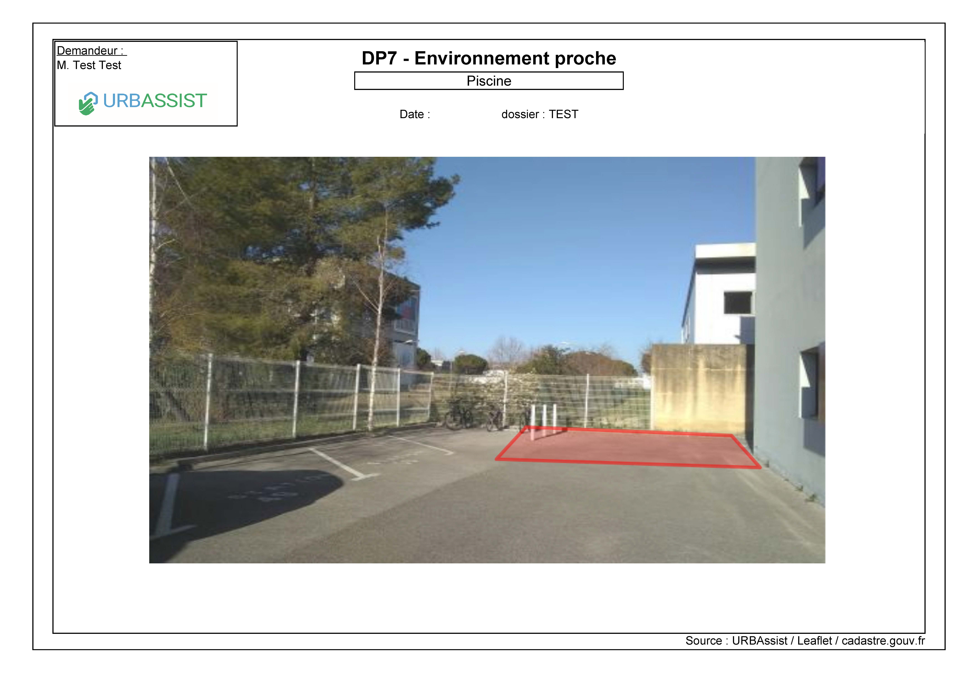 Projet Piscine : DP7 Environnement proche