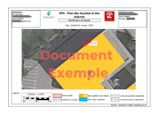 Plan de façades et toitures pour la déclaration de travaux