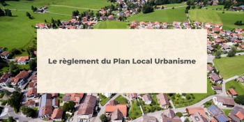 REGLEMENT PLAN LOCAL URBANISME