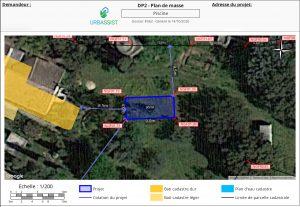 Exemple de plan de masse d'un projet piscine
