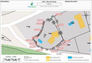 DP2, plan de masse GM - déclaration d'une clôture
