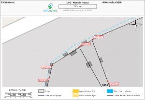 DP2, plan de masse OSM - déclaration d'une clôture