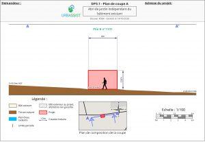 DP3.1 - Plan de coupe A - déclaration préalable