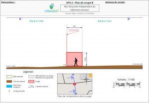 DP3.2 - Plan de coupe B - déclaration préalable