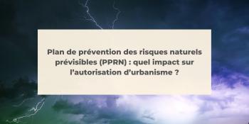 Plan de prévention des risques naturels