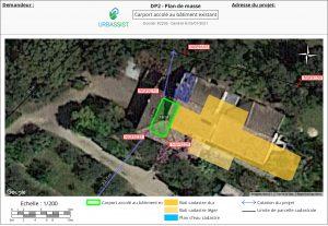 DP2, Plan de masse - déclaration d'un carport