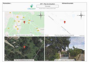 DP1, Plan de situation - déclaration préalable terrasse