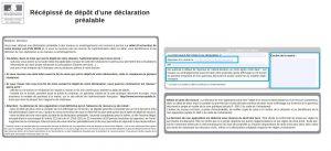 Récépissé de dépôt d'une déclaration
