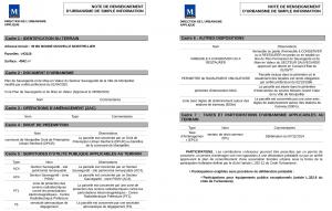 Note de renseignements d'urbanisme de Montpellier